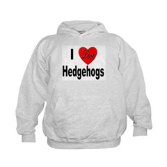 I Love Hedgehogs (Front) Hoodie