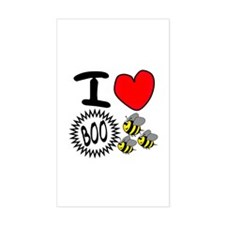 Boo Bees Rectangle Decal