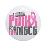 Breast cancer Round Ornaments