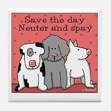 Dog Spay and Neuter Tile Coaster