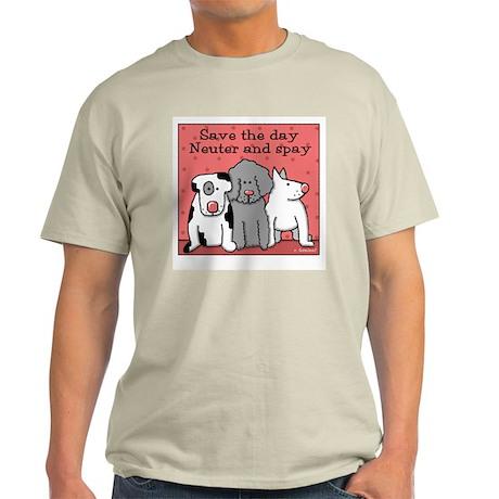 Dog Spay and Neuter Light T-Shirt