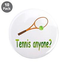 "Tennis 3.5"" Button (10 pack)"