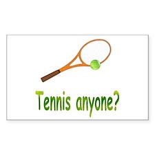 Tennis Rectangle Decal