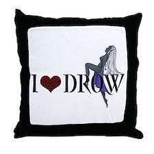 Funny Elves Throw Pillow