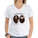 Wallace & Charles Darwin Women's V-Neck T-Shirt