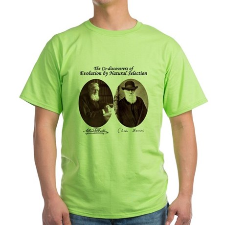 Wallace & Charles Darwin Green T-Shirt