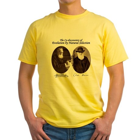 Wallace & Charles Darwin Yellow T-Shirt