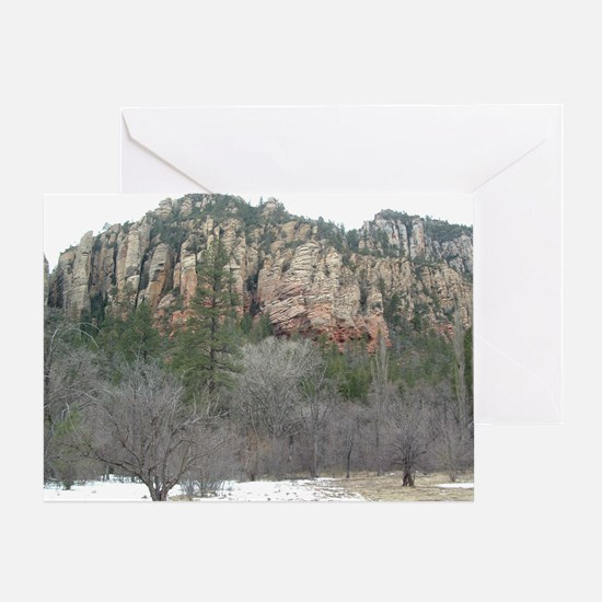 Northern Arizona Snow Scene Greeting Card