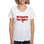 Afraid of the Dark? Women's V-Neck T-Shirt