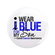 "I Wear Blue (Son) 3.5"" Button"