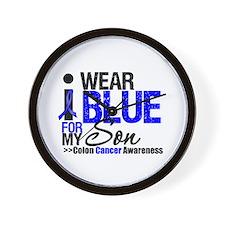 I Wear Blue (Son) Wall Clock