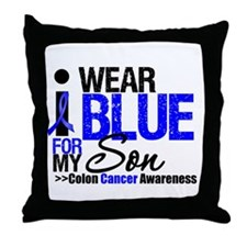 I Wear Blue (Son) Throw Pillow