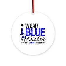 I Wear Blue Sister Ornament (Round)