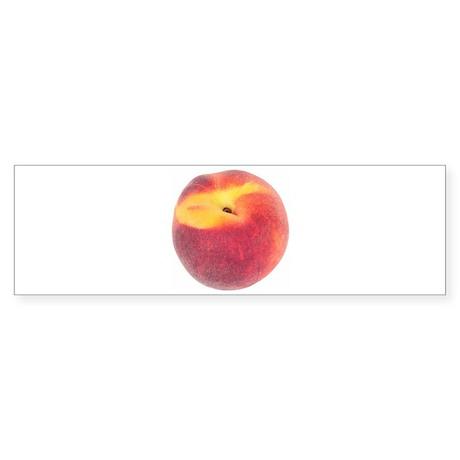 Atlanta Fuzzy Peach Bumper Sticker