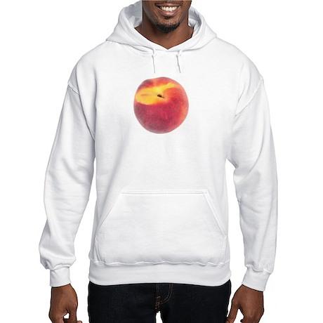 Atlanta Fuzzy Peach Hooded Sweatshirt