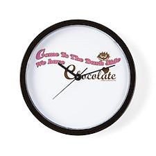 Chocolate Lover Wall Clock
