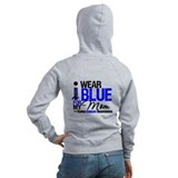 I wear blue for my mom Zip Hoodies