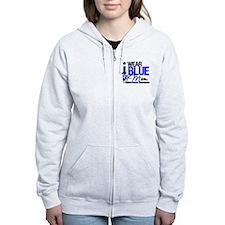 I Wear Blue Mom Zip Hoodie