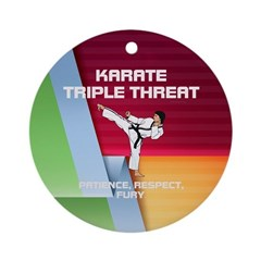 ABH Karate Slogan Ornament (Round)