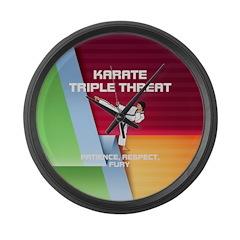 ABH Karate Slogan Large Wall Clock
