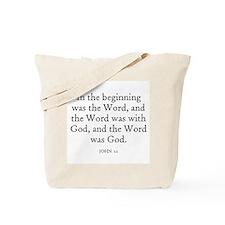 JOHN  1:1 Tote Bag