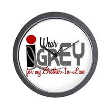 I Wear Grey For My Brother-In-Law 32 Wall Clock