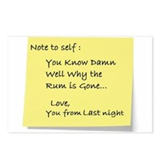 Note to self... Postcards (Package of 8)