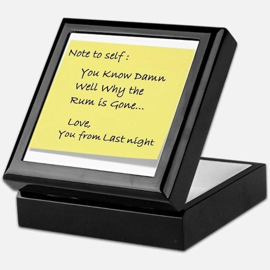 Note to self... Keepsake Box