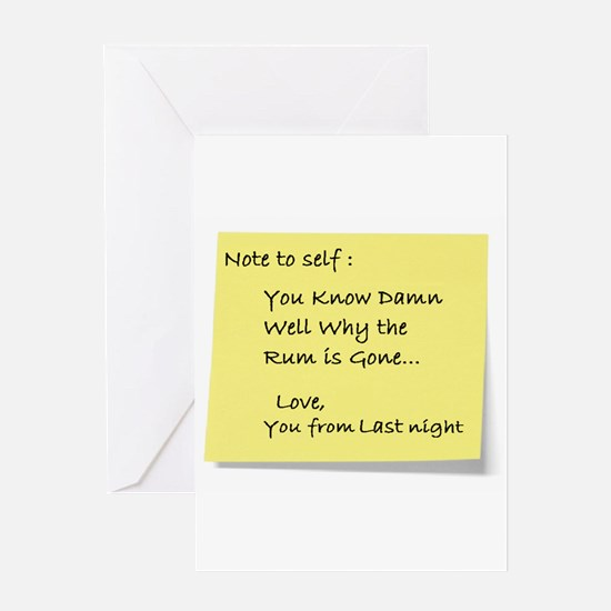 Note to self... Greeting Card