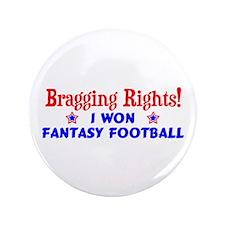 """Fantasy Football Winner! 3.5"""" Button"""