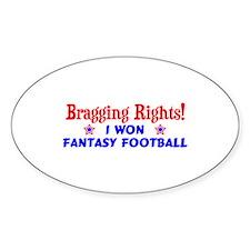 Fantasy Football Winner! Decal
