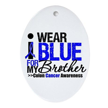 I Wear Blue (Brother) Oval Ornament
