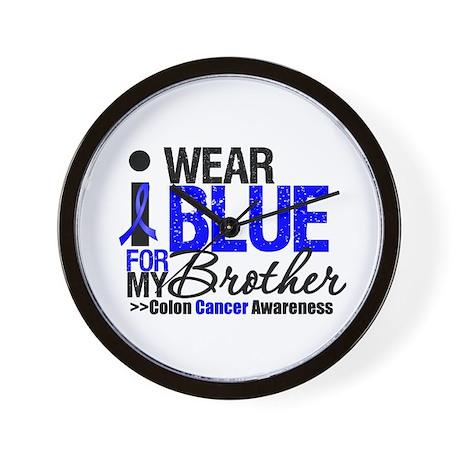 I Wear Blue (Brother) Wall Clock