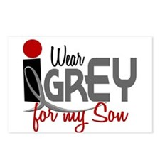 I Wear Grey For My Son 32 Postcards (Package of 8)