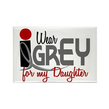 I Wear Grey For My Daughter 32 Rectangle Magnet