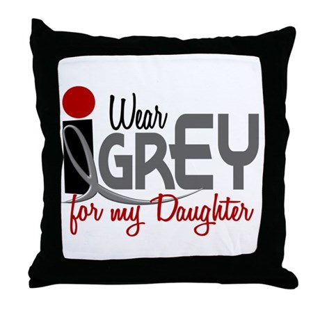 I Wear Grey For My Daughter 32 Throw Pillow