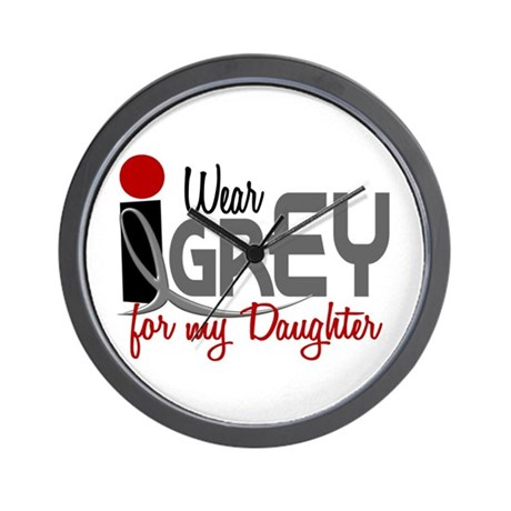 I Wear Grey For My Daughter 32 Wall Clock