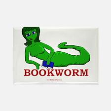 Bookworm Girl Rectangle Magnet