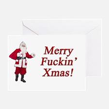 Merry Fuckin' Xmas Greeting Card
