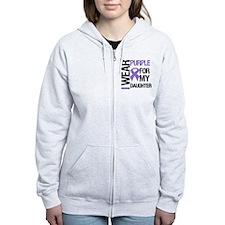 IWearPurpleDaughter Zip Hoodie