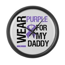 IWearPurpleDaddy Large Wall Clock