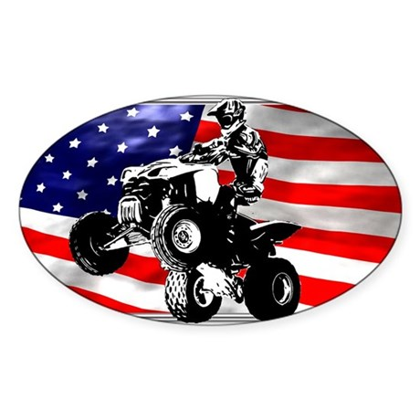 AMERICAN QUADDER! Oval Sticker