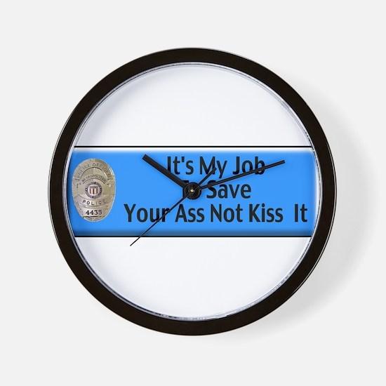 Save Your Ass Wall Clock
