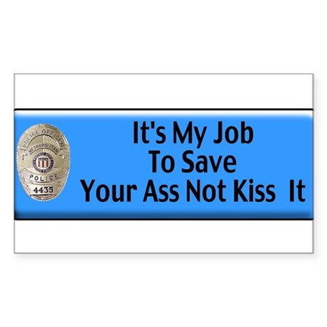 Save Your Ass Rectangle Sticker