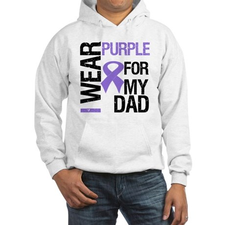 IWearPurpleDad Hooded Sweatshirt