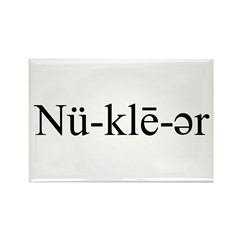Nuclear Pronunciation Rectangle Magnet (100 pack)