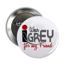 "I Wear Grey For My Friend 32 2.25"" Button (10 pack"