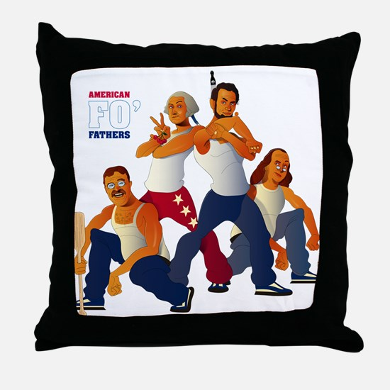 American Forefathers Throw Pillow
