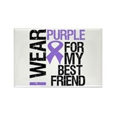 IWearPurpleBestFriend Rectangle Magnet