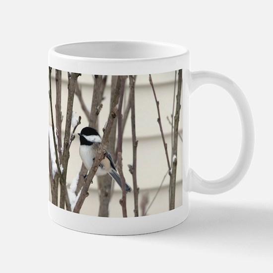 Black Capped Chickadee Mug